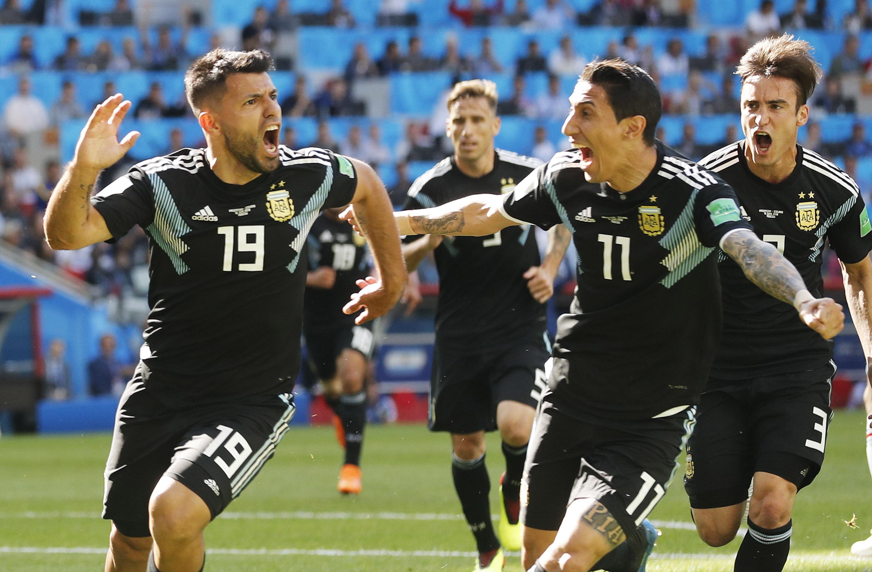 El Kun por fin pudo gritar un gol propio en un mundial (EFE)