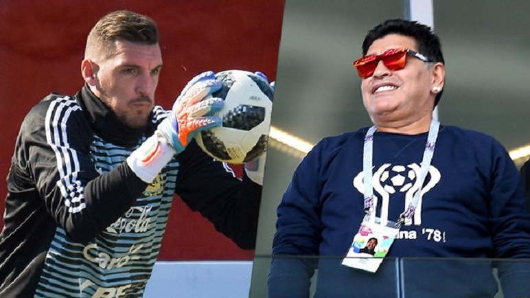 Diego Maradona se sumó al grupo de los que piden por Franco Armani.