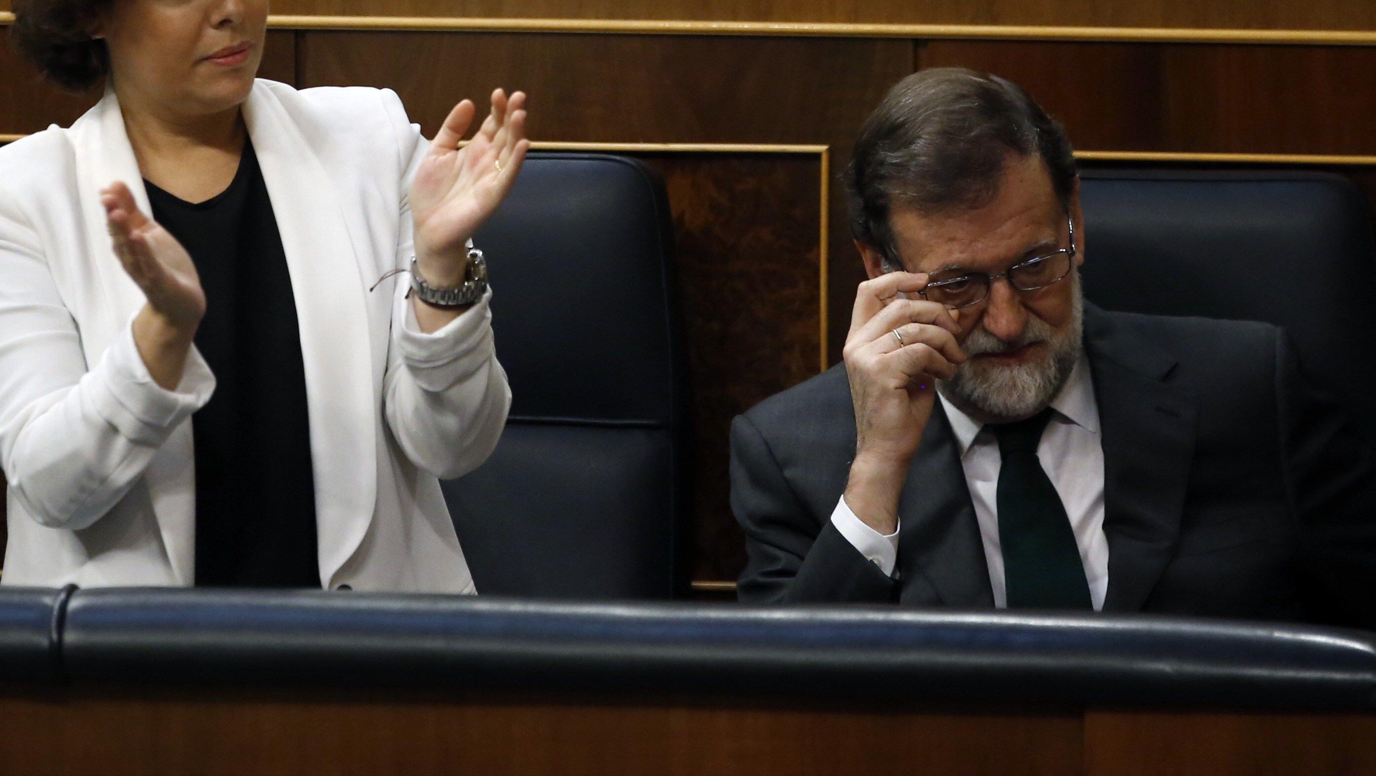 Rajoy previo a ser destituido (EFE)