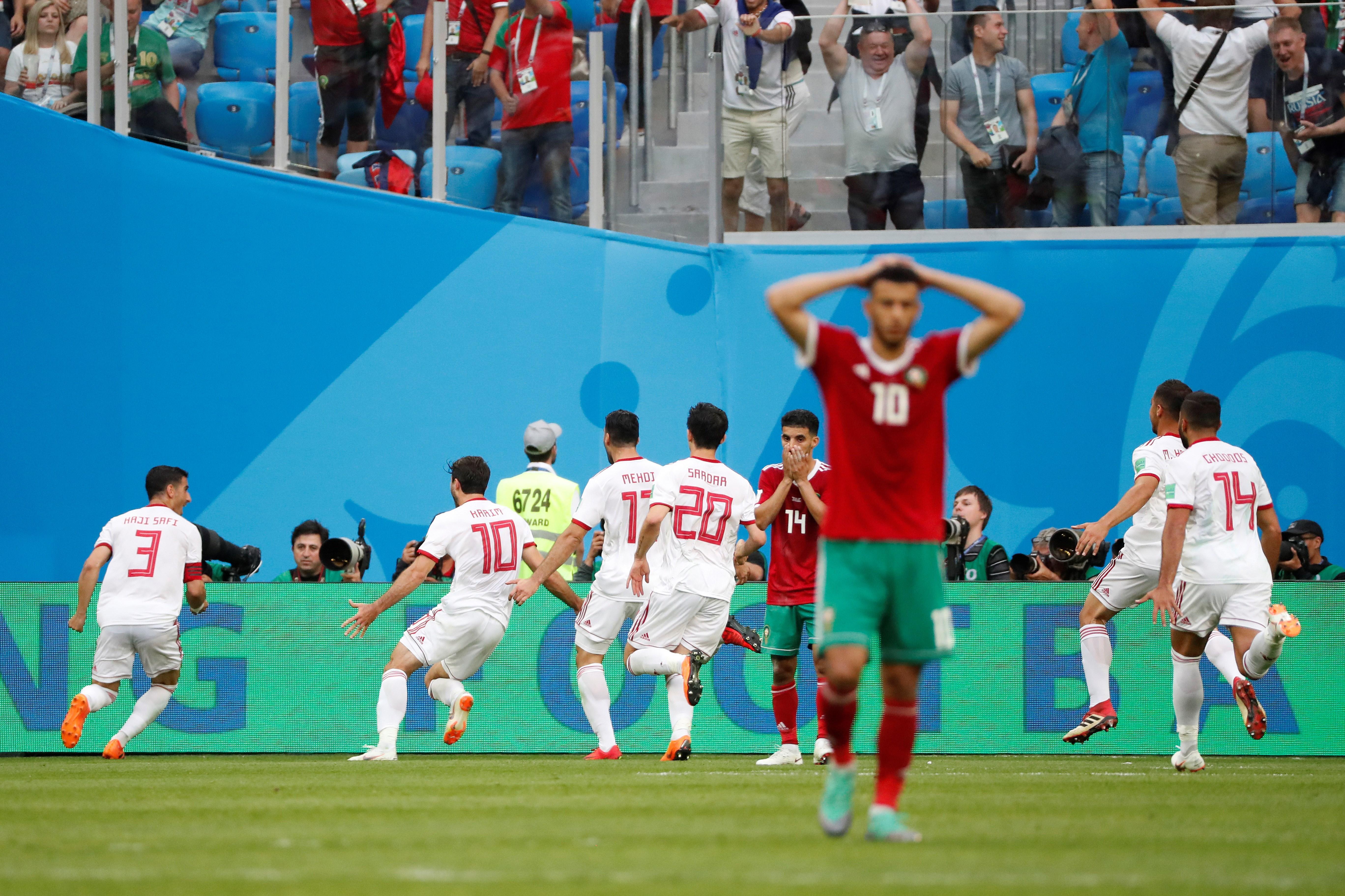 Irán se llevó tres puntos sobre el final del partido (EFE)