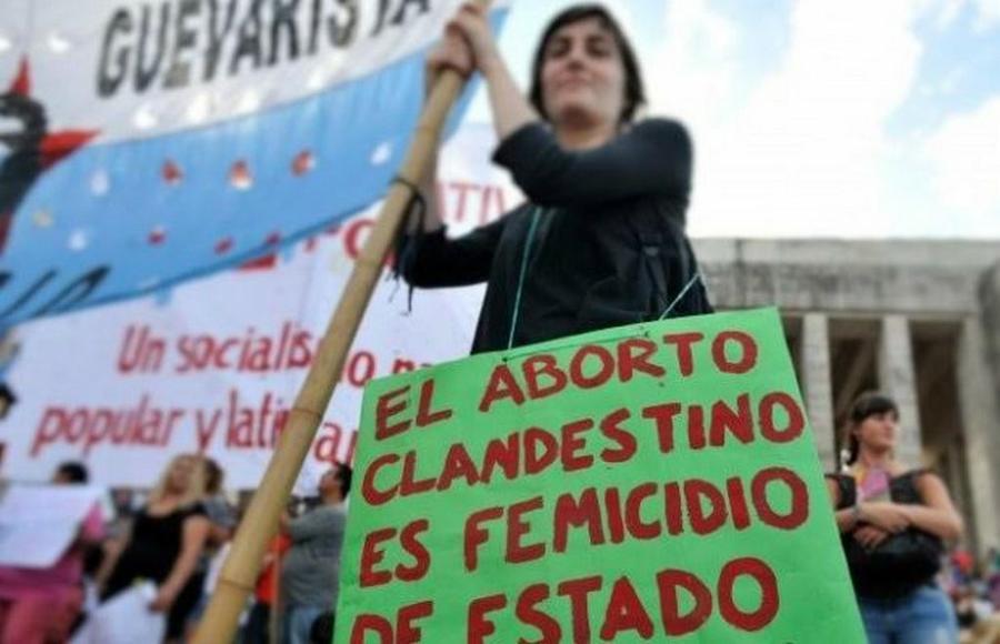 En una marcha por la legalización del aborto.