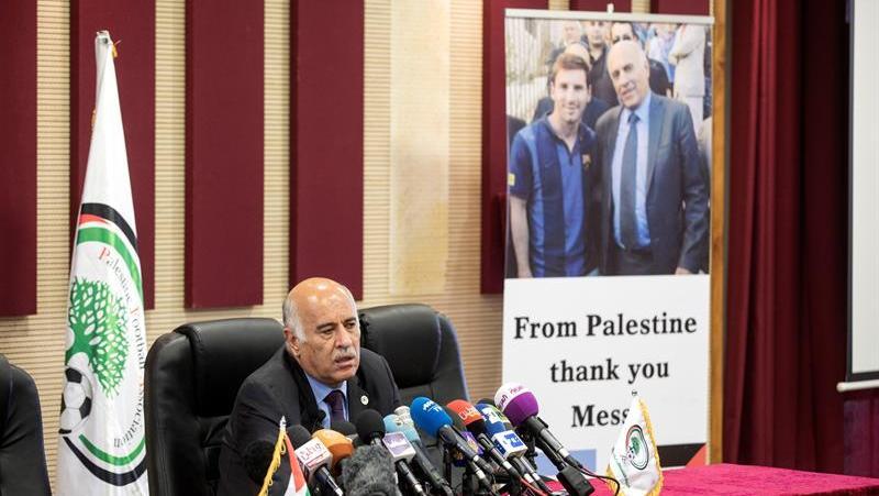 En conferencia de prensa, Palestina agradeció a Messi