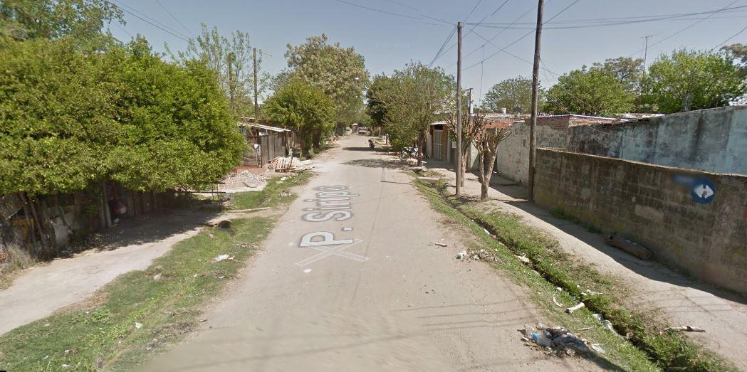 La cuadra donde ocurrió el crimen de Escobar, en La Cerámica.