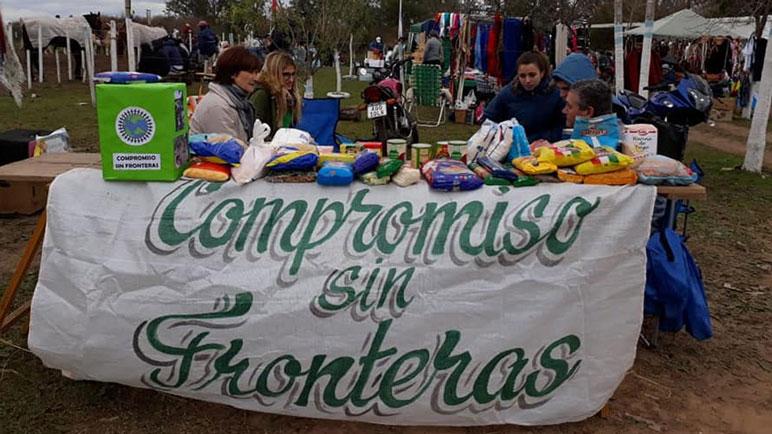 El equipo de Compromiso Sin Fronteras en Carcarañá.