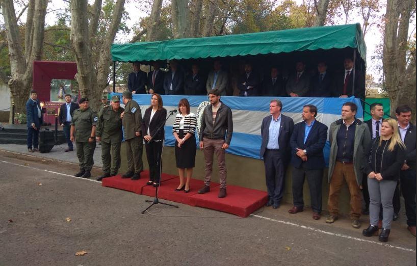 La ministra llegó a Rosario para la presentación de refuerzos (Rplus)