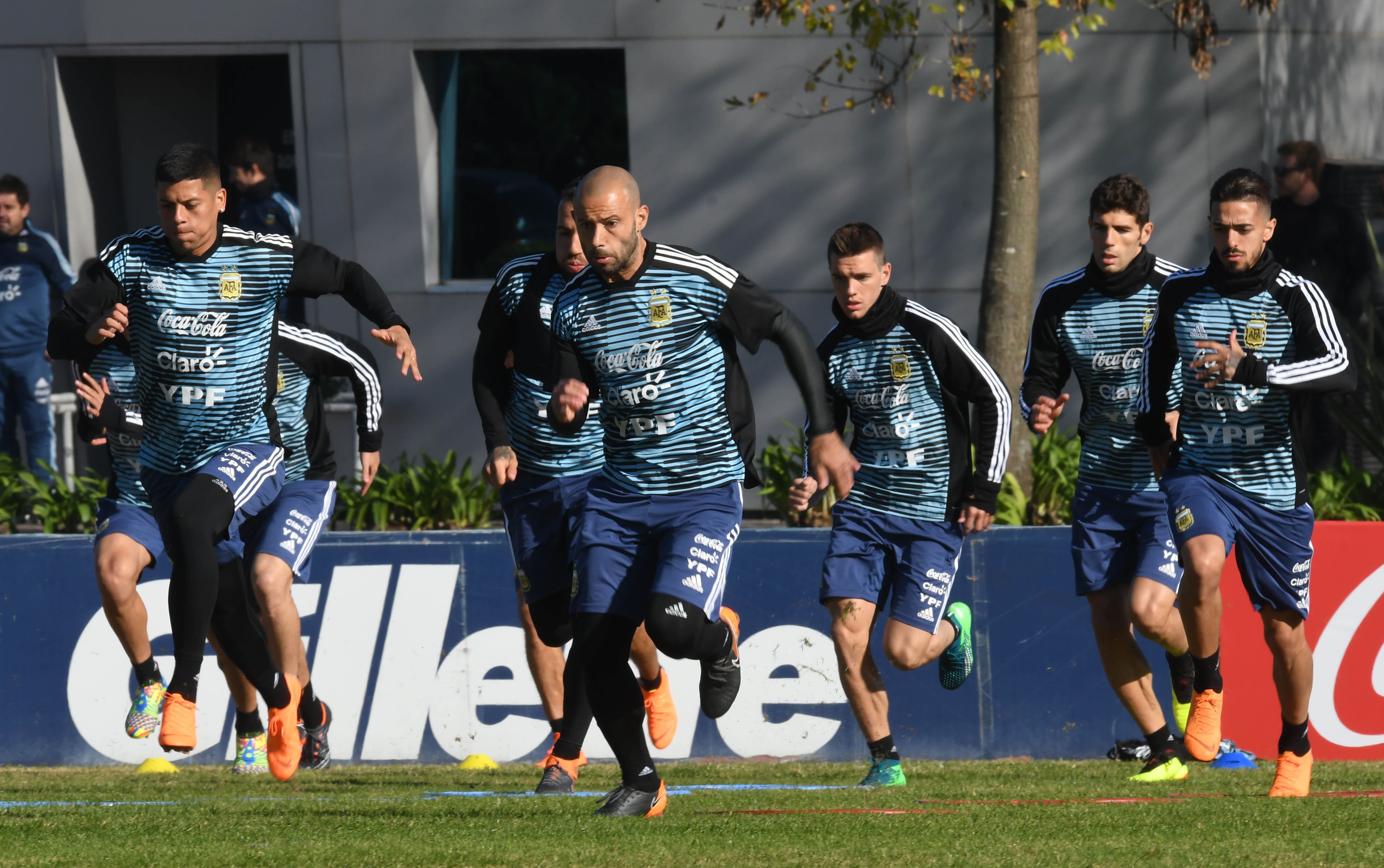 Los futbolistas argentinos se preparan para la copa más importante del mundo. (Foto: Télam)