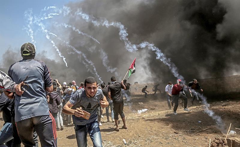 Desde el 30 de marzo las diversas facciones palestinas convocaron manifestaciones semanales. (Foto: EFE)