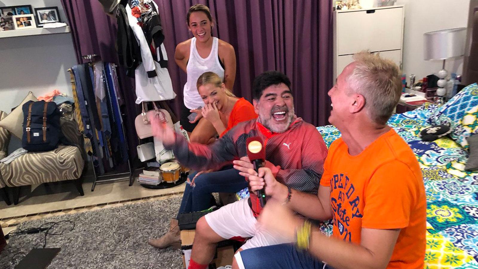 El próximo domingo Telefé emitirá la nota exclusiva con Diego Maradona
