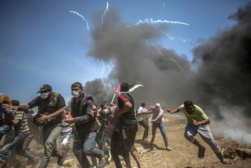 Más de 2.700 palestinos fueron heridos en la represión (Foto: EFE)
