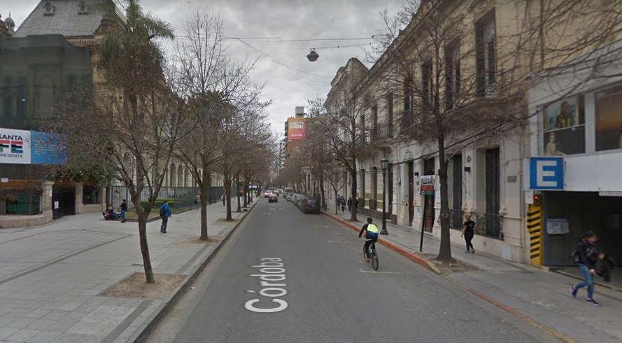 La cuadra de Córdoba al 2000 donde se produjo el hecho (Maps)