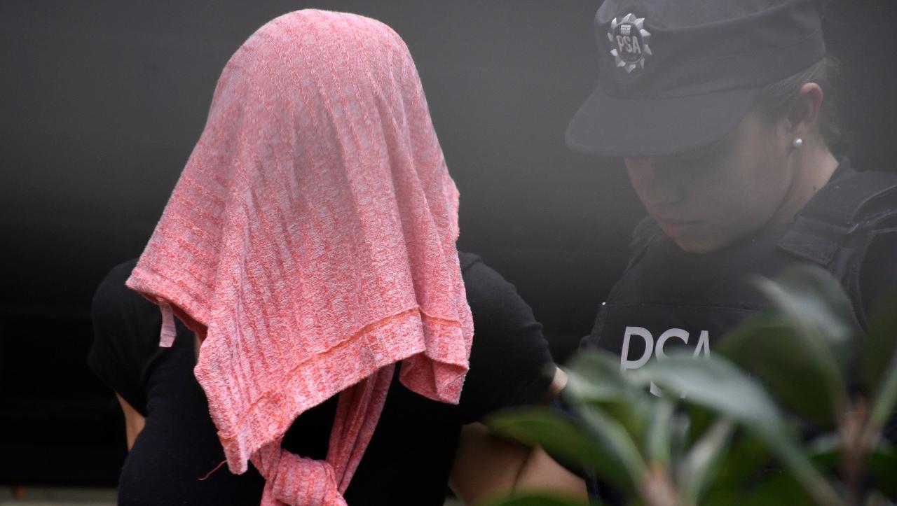 Daniela Ungaro al momento de su detención (Juan José García)