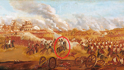 """Urquiza con Purvis. """"Batalla de Caseros"""" (1857) de Juan Manuel Blanes"""