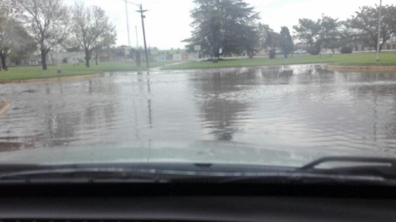 Imágenes de lo que dejó la lluvia del sábado en Villada.