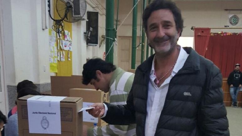 Golosetti sonriente, a la espera de los resultados.