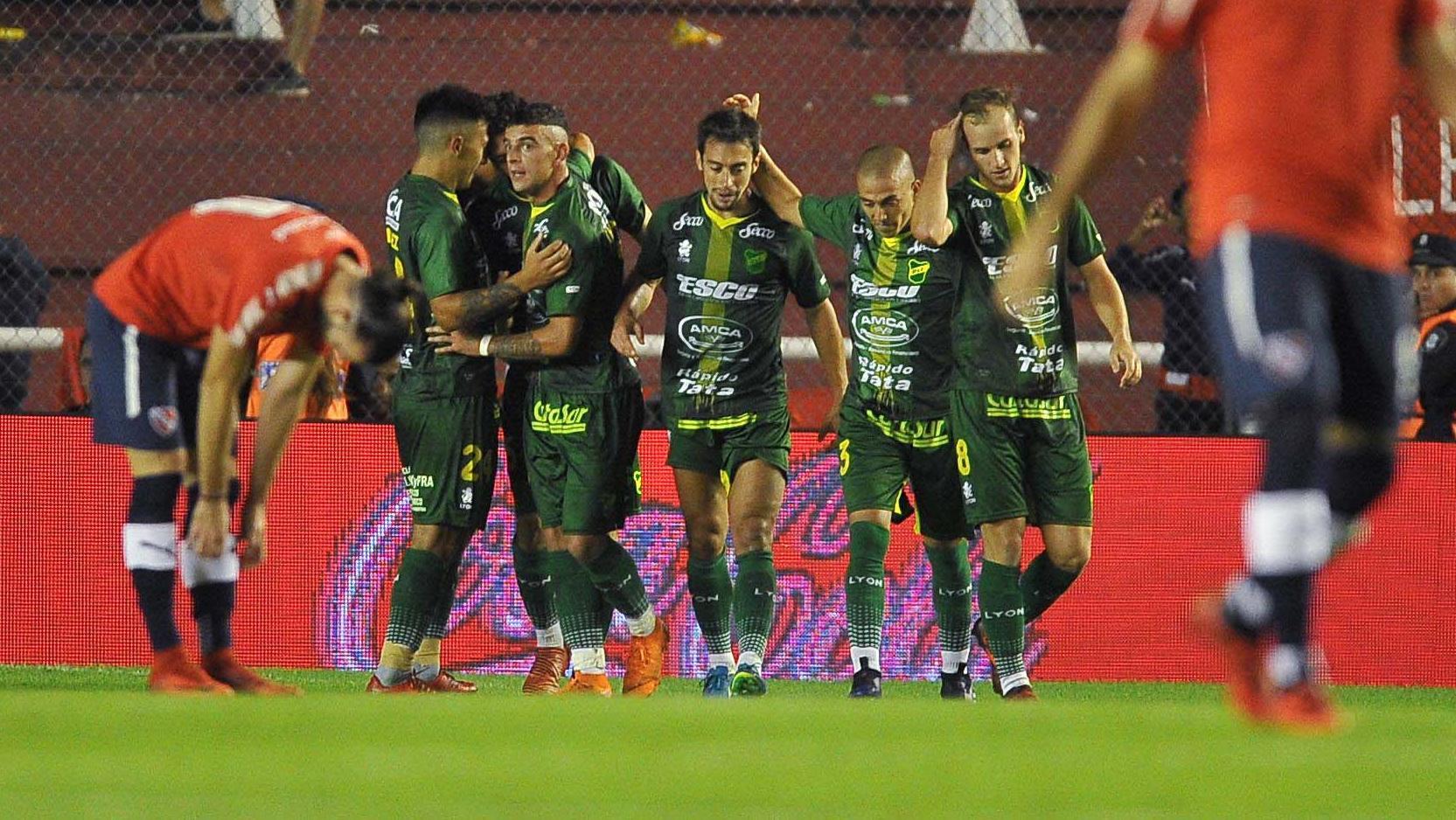 Bareiro anotó el único tanto del partido. (Foto: Télam)