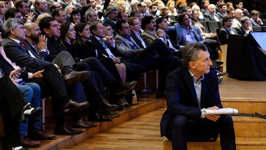 Macri junto a su gabinete ampliado (Presidencia)