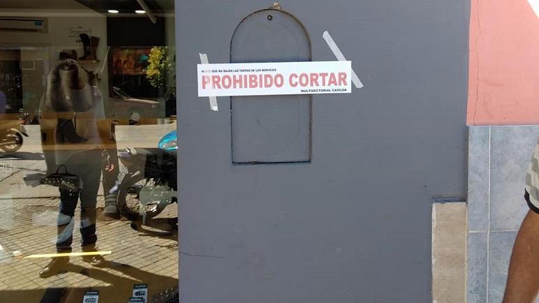 La Multisectorial pasó por los comercios de calle Buenos Aires.