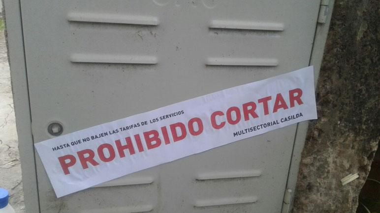 La Multisectorial Casilda pretende evitar los cortes en las casas de la ciudad.