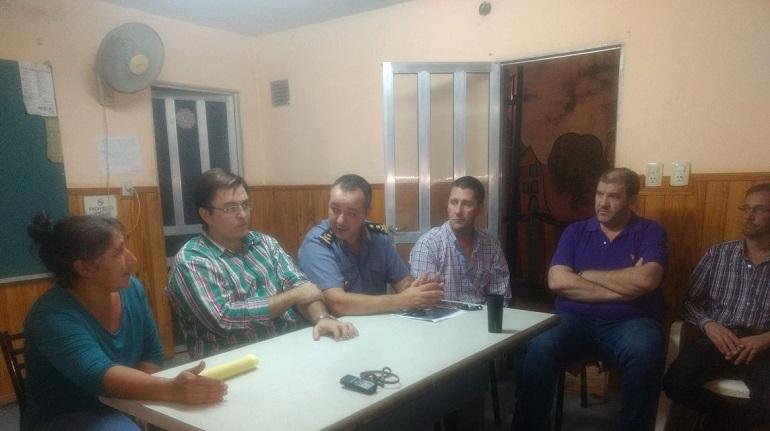 Los vecinos de Yapeyú recibieron a Albornoz, Sarasola, Censi, Yualé y Tomat.