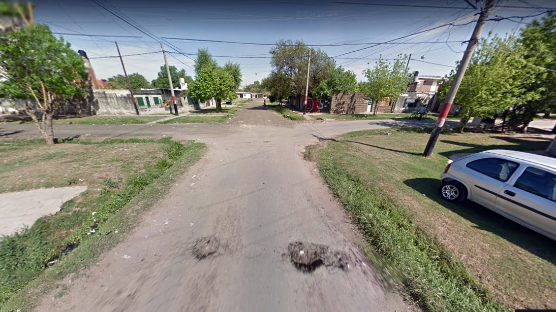 Dean Funes y Lima, donde ocurrió el crimen. (Google St. View)