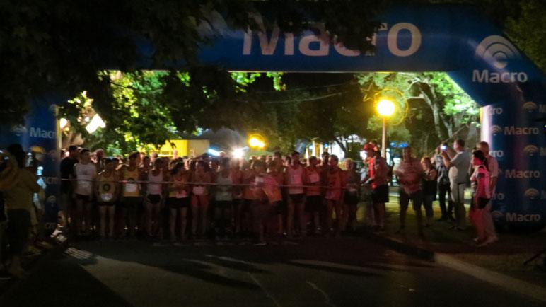 La Maratón Nocturna, a punto de largarse.