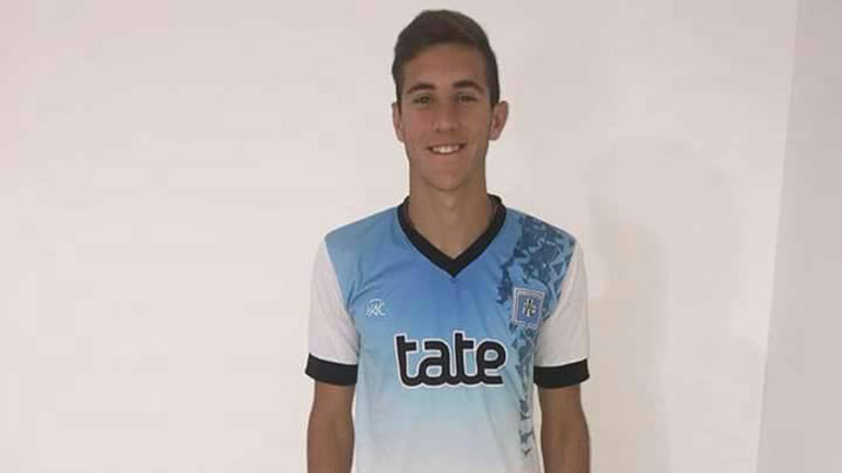 Santiago Kuzmicich, uno de los tres juveniles que se fue a Río Cuarto.