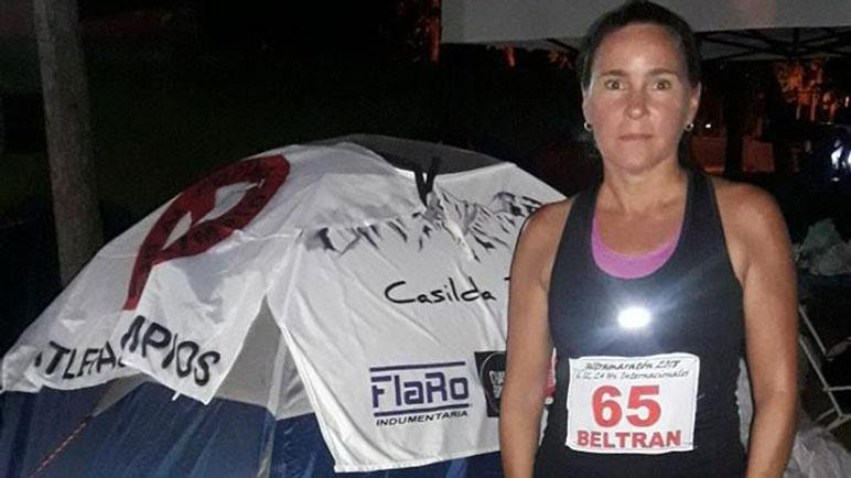 Celina Beltrán, con el 65 en el pecho. Fue segunda en la clasificación general.