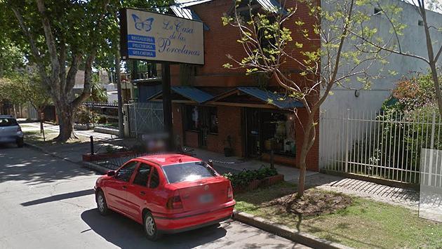 El local comercial 'La casa de la porcelana' en donde ocurrió el hecho.