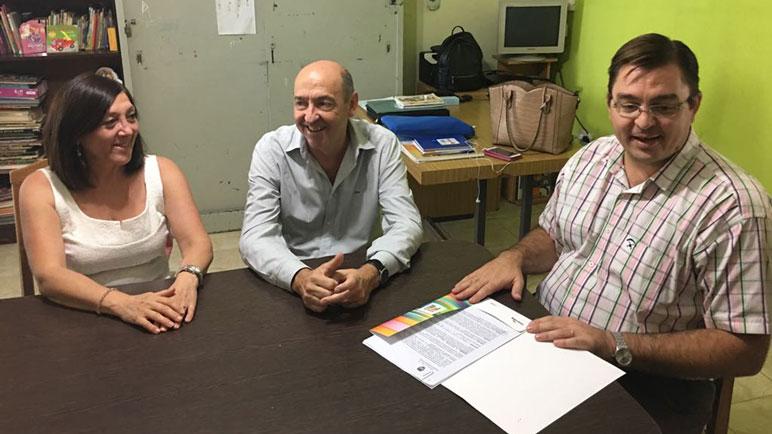 Susana Di Marco recibió a Jorge Álvarez y al intendente Juan Sarasola.