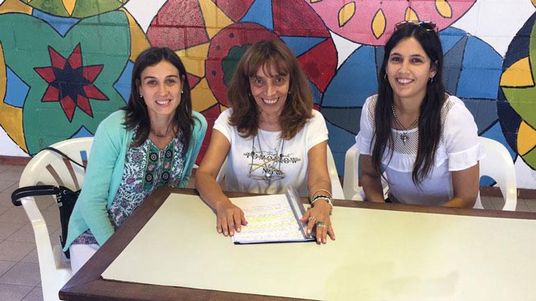 Paola D'Ostuni, Teresa Del Valle Juncos y Estefania Frontini presentaron el plan.