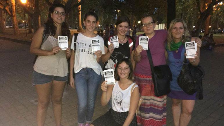 Las mujeres de Casilda reivindican sus derechos este jueves.