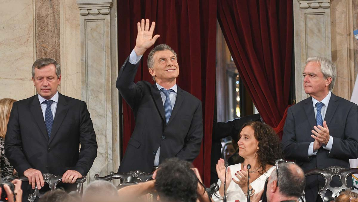 Macri en la apertura de sesiones (captura tv)