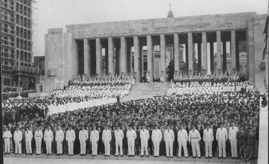 Inauguración del Monumento, 20 de junio de 1957.Fuente: Archivo - Crédito: Fototeca del Archivo General de la Nación