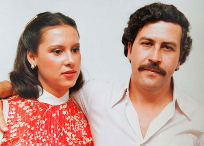 Escobar y su esposa, María Victoria Henao
