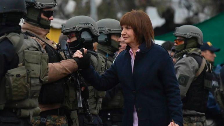 Bullrich confirmó refuerzos federales para la zona sur de Rosario.