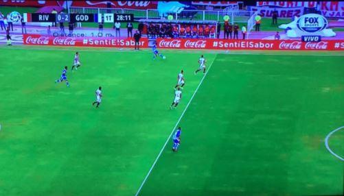 El offsideno cobrado que terminó en gol de Godoy Cruz