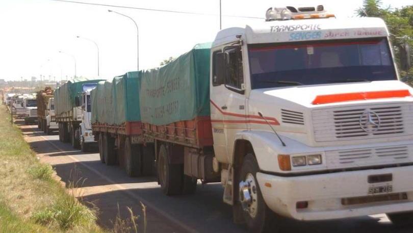 Desde que inició la medida se impide el paso de camiones cerealeros entre los kilómetros712y 719.