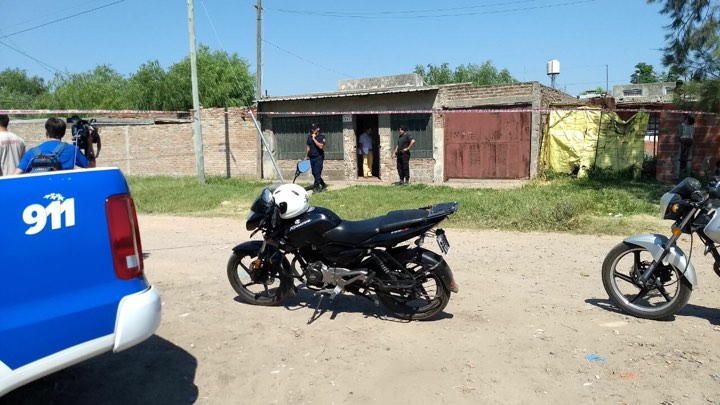 El domicilio donde vivía la víctima (Foto gentileza de SL24)