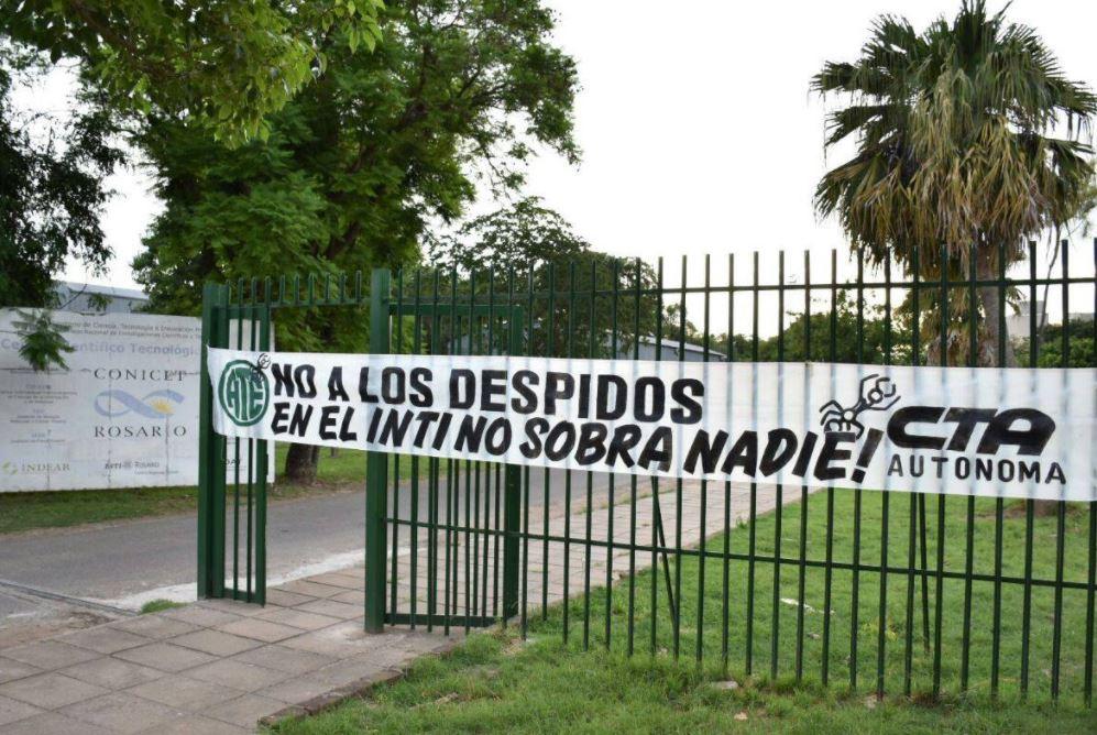 Luego de los despidos quedan 49 empleados en la delegación Rosariodel Inti. (ATE Rosario)