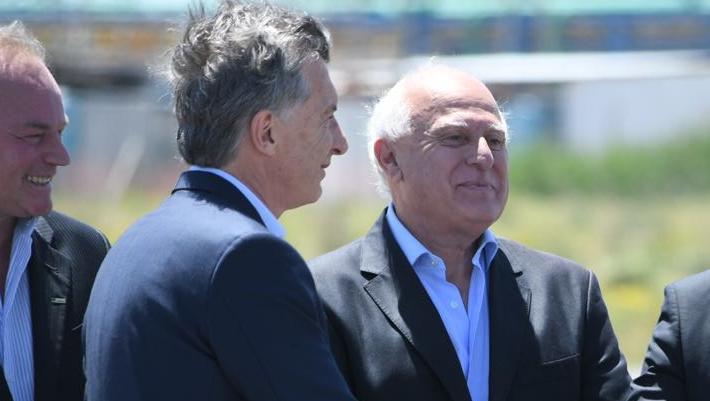 Lifschitz con Macri, este lunes en la inauguración de la fábrica de Gerdau.