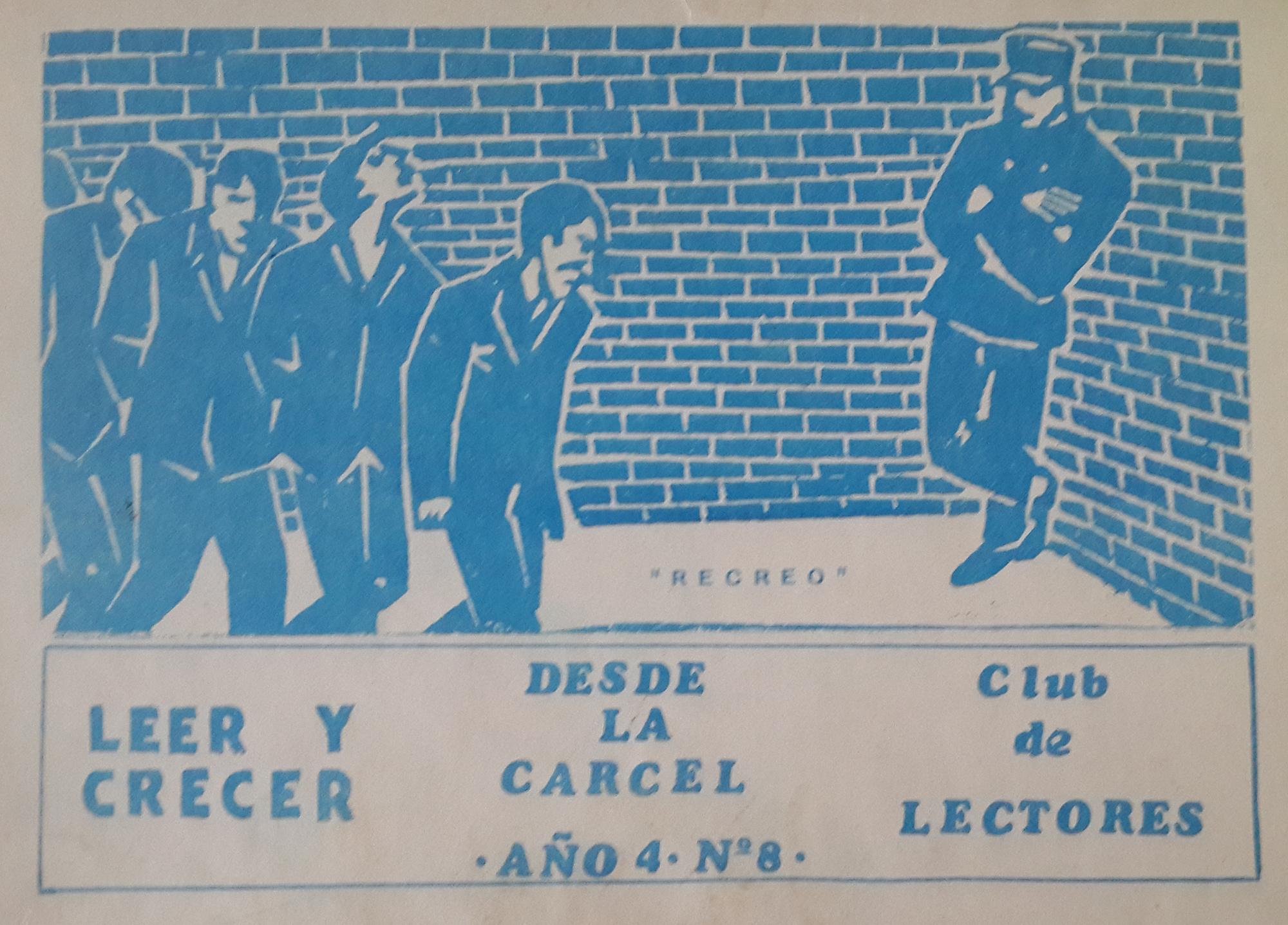 """Tapa de la revista del club de lectura """"Leer y crecer"""" en donde se publicaban reflexiones, poemas y notas de los presos."""
