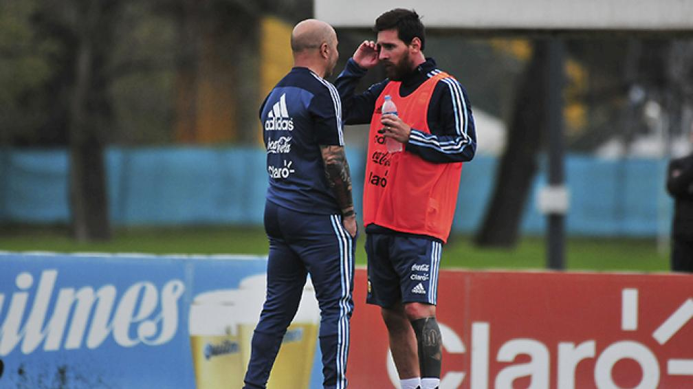 Sampaoli y Messi se encontraron en España