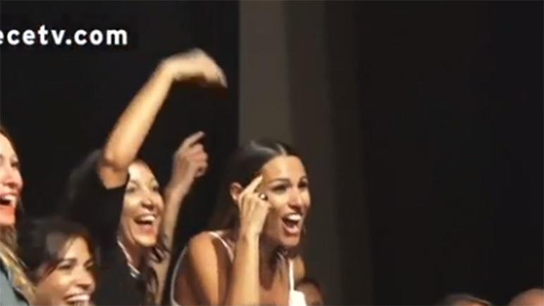 Las modelos coincidieron en el recital. Se ve que no son tan distintas.
