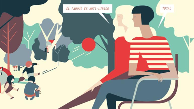 Dos mujeres dibujan sus realidades como madres