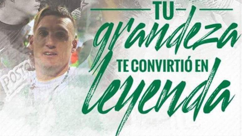 Nacional despide a su leyenda. En Colombia le dicen adiós a Armani.