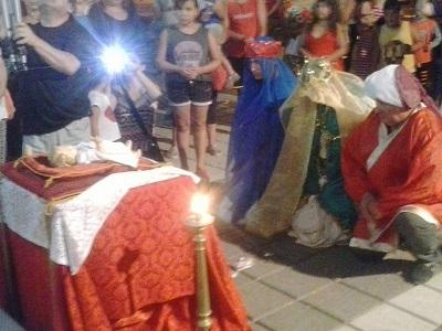 En 2017, los Reyes también se presentaron en la Parroquia.