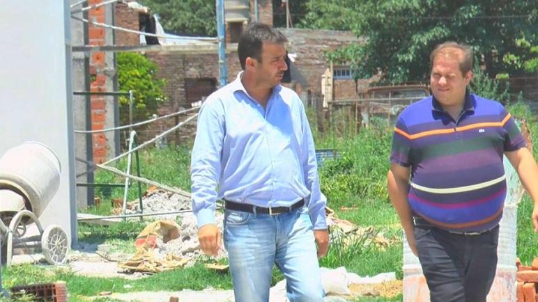 Luciano Caturelli y Ezequiel Ruani caminaron por las obras de San José.