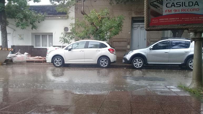 Casilda tuvo un mediodía lluvioso durante este martes.
