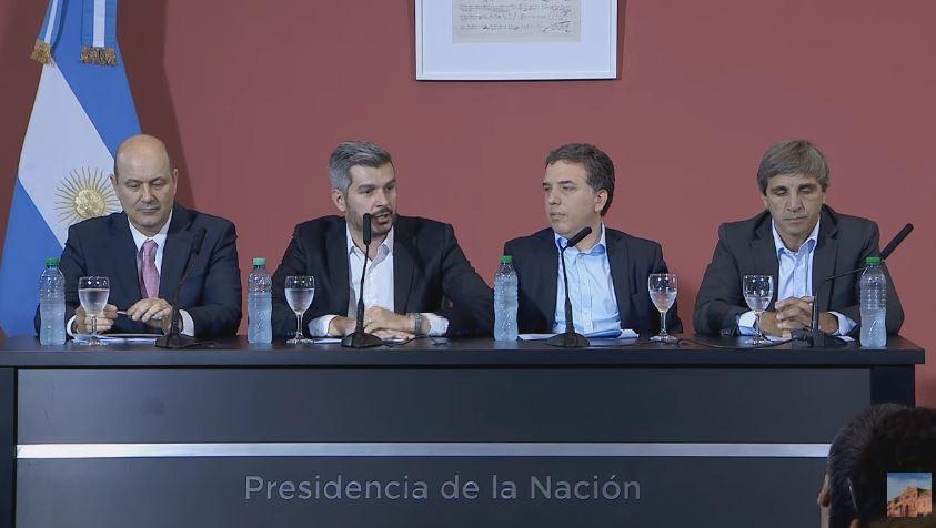 Conferencia de prensa del gabinete económico