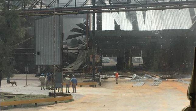 La deflagración abrasó todo a su alrededor en la planta de silos.